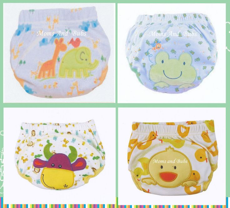 4 Pack Unisex Potty Training Pants Size 100 Large New Designs Cotton Polyester