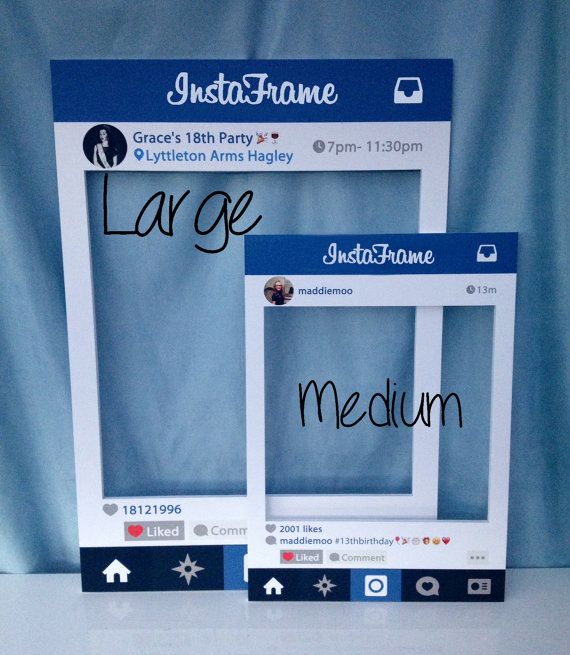 Large/medium Personalised InstaFrame photobooth por InstaFrameUK