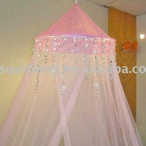 Tulle Canopy crystals / fairy lights