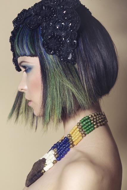 Custom Made and Custom Coloured Wig Designed by Wig Designer Eugene Davis FTWS