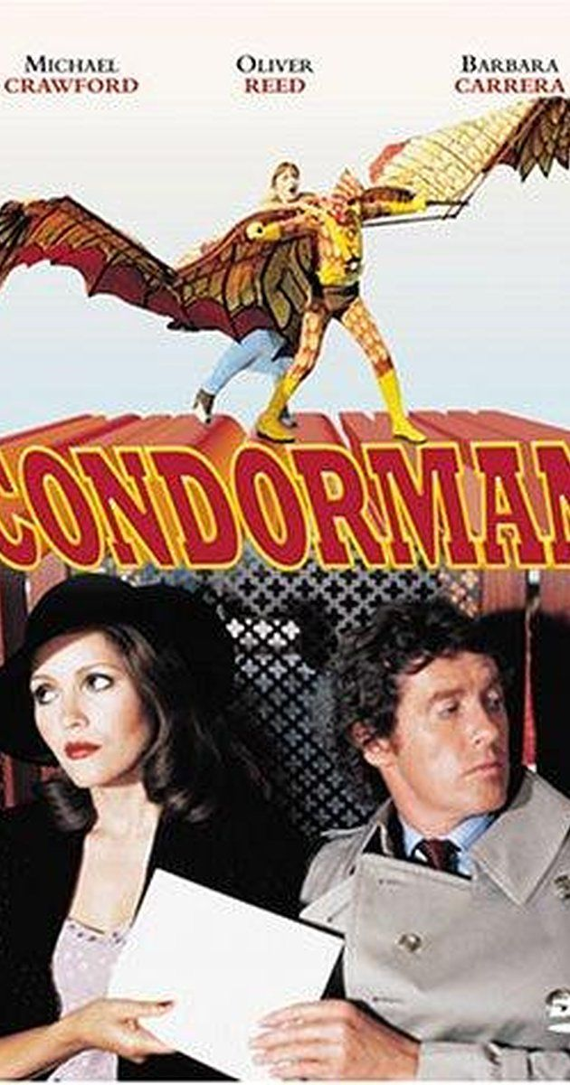 Directed by Charles Jarrott.  With Michael Crawford, Oliver Reed, Barbara Carrera, James Hampton. Cartoonist Woody becomes the superhero he draws. Using his gadgets he helps a Soviet spy defect to the West.