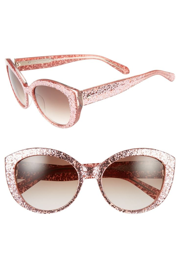 Crushing on these pink glitter cat eye sunglasses | Kate Spade:
