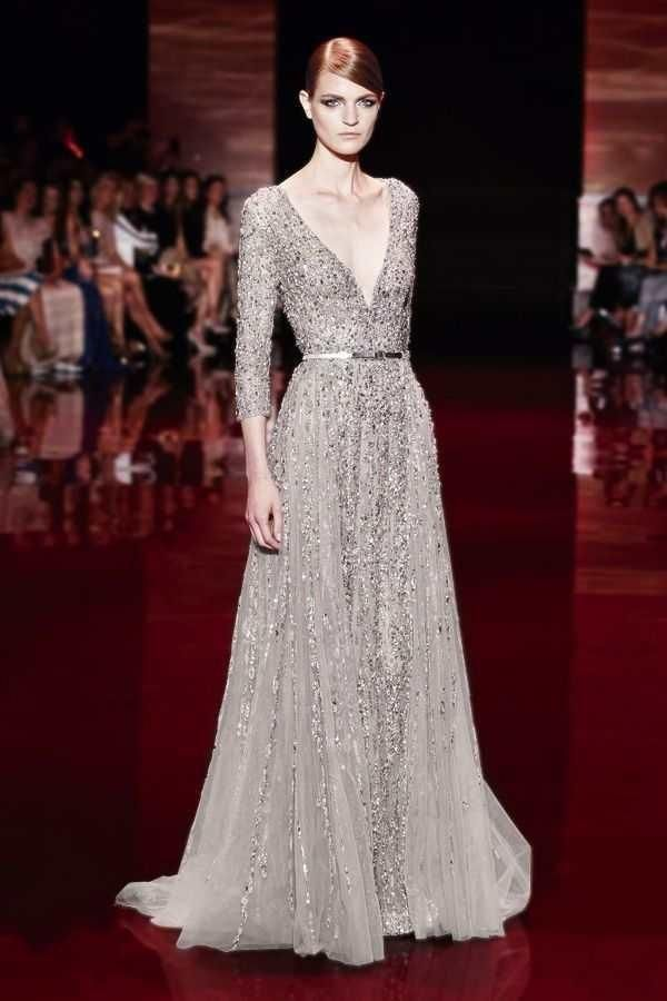 Champagne Evening Dress Elie Saab Style Evening Formal Party Dresses 2015 Custom Made High Quality Sheer V Neck Sweep Train Luxury Beaded Sequins Evening Gowns Sexy Evening Dresses From Ebelz001, $183.25| Dhgate.Com