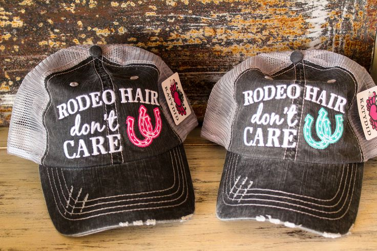 You know this Rodeo Hair girl had to have these!!! These trucker hats are stylish, comfy, and very well made!