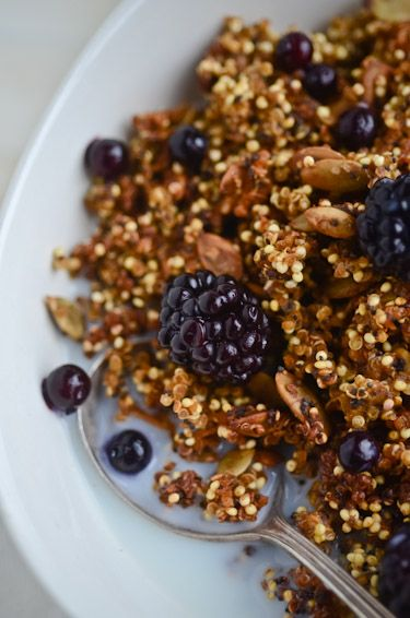 I might just have to try this. Homemade crunchy pumpkin quinoa cereal