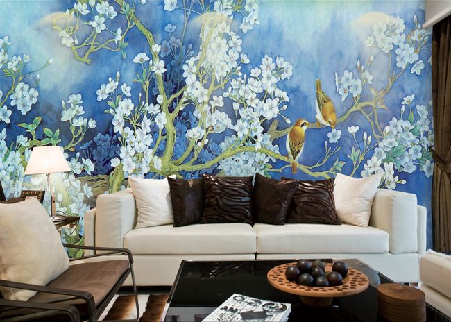les 13 meilleures images du tableau papier peint d 39 artiste peinture l 39 encre de chine les. Black Bedroom Furniture Sets. Home Design Ideas