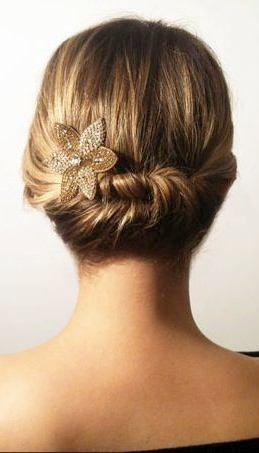 Elegant Updo for Short Hair - Renewed Style