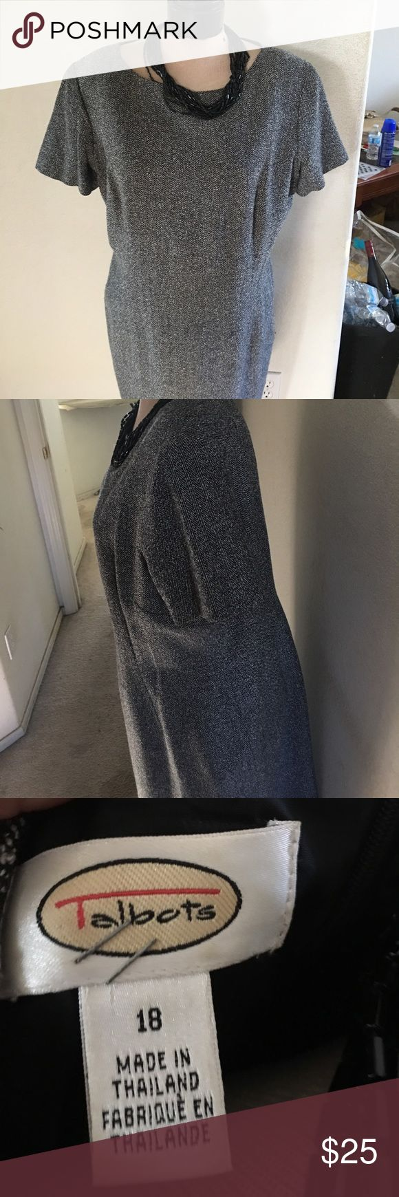 Plus size dress Black n grey plus size dress talbots Dresses Midi