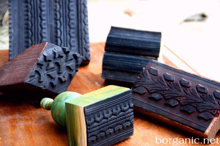 DIY rubber bike tire stamps