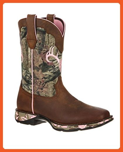 Durango Women's 10'' Lady Rebel Camo Western Casual Boots, Brown Leather, 8.5 M - Boots for women (*Amazon Partner-Link)