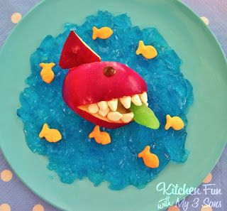 Kitchen Fun With My 3 Sons: Shark Attack Snack!