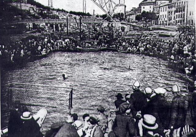 Waterpolo Douro River, Porto 1930s