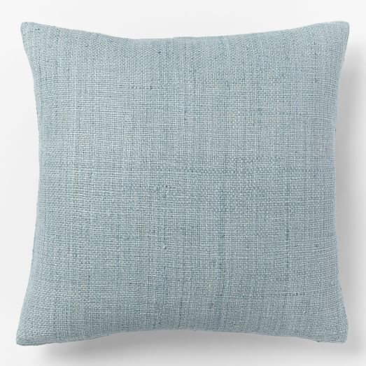 Solid Silk Hand-Loomed Pillow Cover - Light Pool | west elm 2 for $70