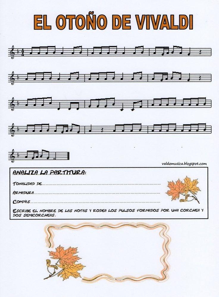 El otoño de Vivaldi, partitura.