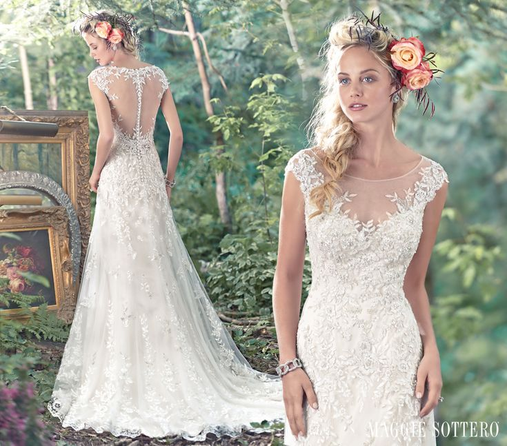 Romantic wedding dresses with floral details give classic wedding designs a modern upgrade. See more of Maggie Sottero Designs' top pins, Tami and Shelby.