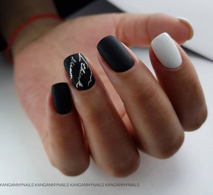 15 Stunning Ideas Of The Main Trend This Fall Letters And Words On Nails