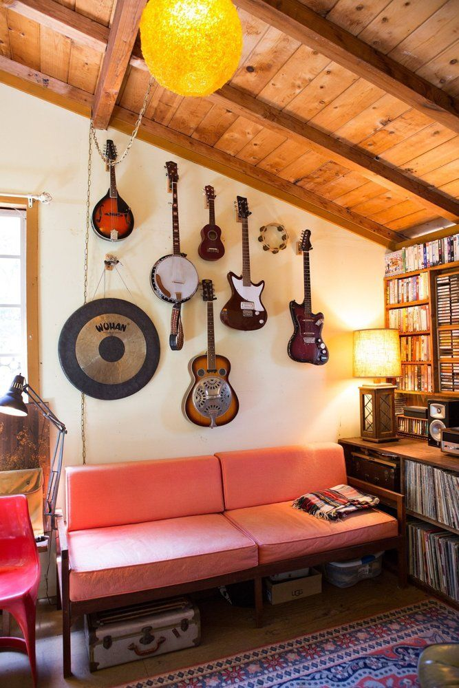 Kristin & Derek's Musical Laurel Canyon Lodge — House Tour | Apartment Therapy