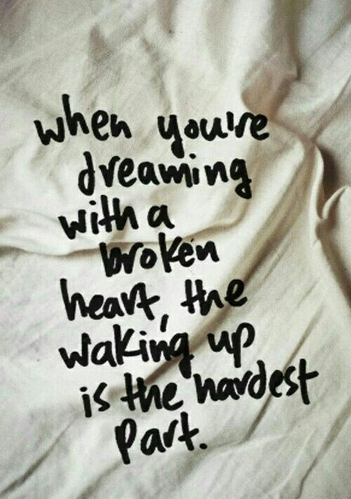 Waking up is the hardest part...