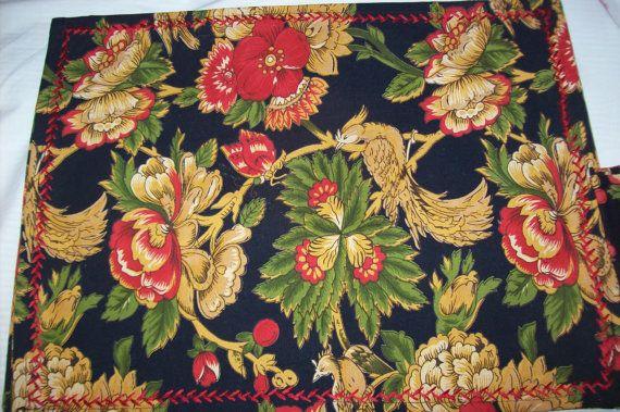 Vintage April Cornell Placemats and Napkins by VintageElegantFinds