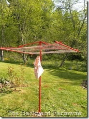 red clothesline