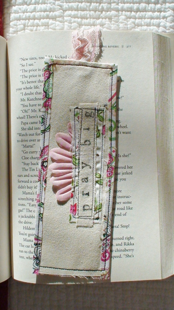 Floral fabric bookmark 15 best bookmarks images