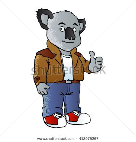 funny koala cartoon vector illustration