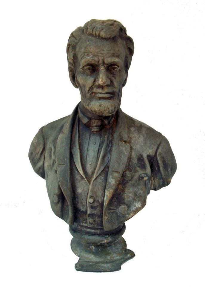 Important Abraham Lincoln Bust Statue By Joseph Alexis
