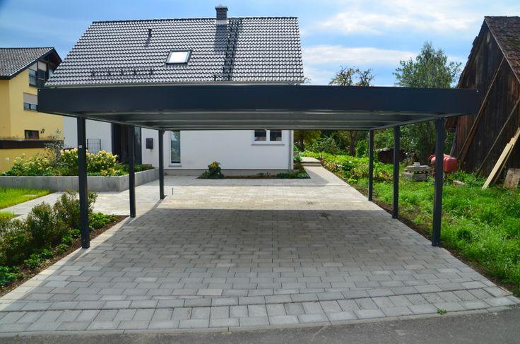 """Doppelcarport """"Made in Germany"""" aus Stahl für 2 Autos oder einfach für noch mehr geschützten Platz. Mit 10 Jahren Garantie!"""