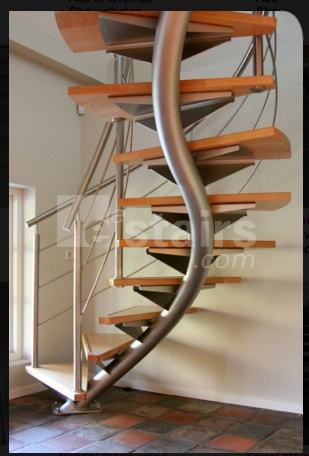 Single Stringer Helical Staircase