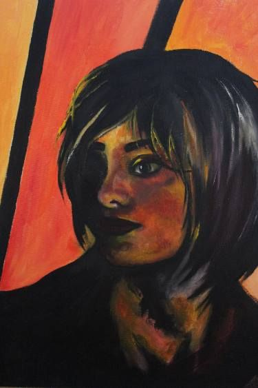 Oilpainting red portrait #art #oilpainting #portrait #red #impression #emotion #expression #original #print # redcolor #girl #масло #портрет #красныйцвет #принт #оригинальнаякартина #картина #интерьер #красное