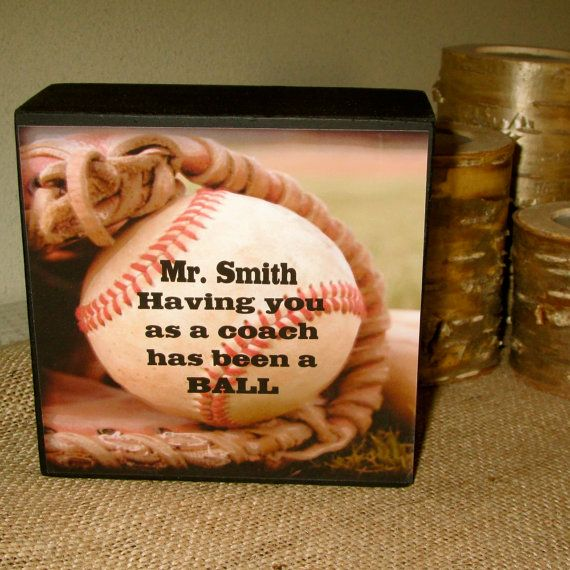 Personalized Baseball Coach Gift Baseball wood by WordsofWisdomNH, $12.00