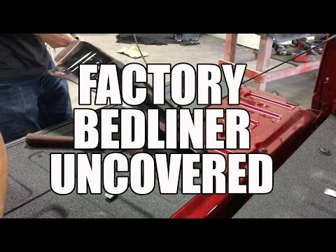 2016 Ford F150 Factory Bedliner Removal and Replacement with Line X - YouTube