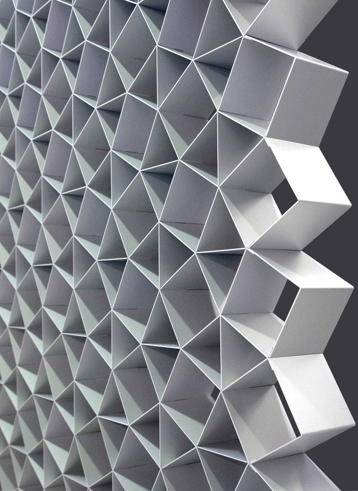 Cellscreen in clear anodised aluminium by Korban/Flaubert