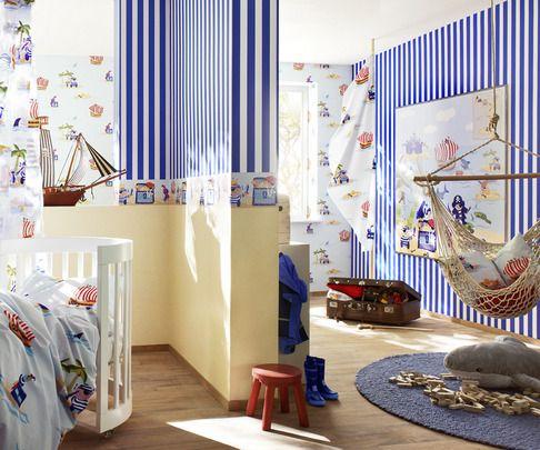 Papel Pintado Rasch Bambino 141207. ¡Ideas para decorar la habitación de sus hijos por menos de 30 EUROS!  Ideales tanto para los cuartos de niños como para las habitaciones de niñas.