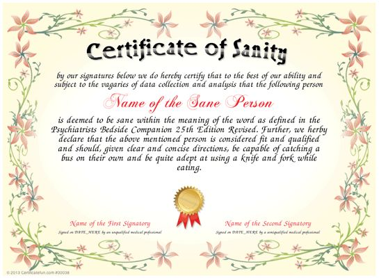 8 Best Fun Certificate Templates Images On Pinterest Certificate