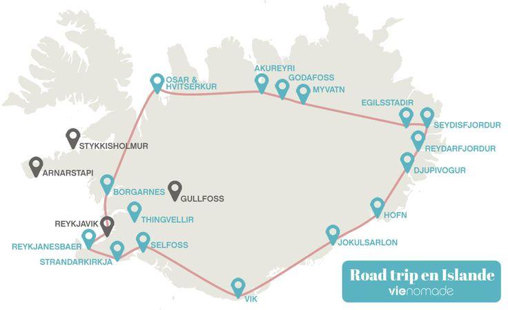 Itinéraire pour un road trip en Islande en hiver! Du blanc plein les yeux :)