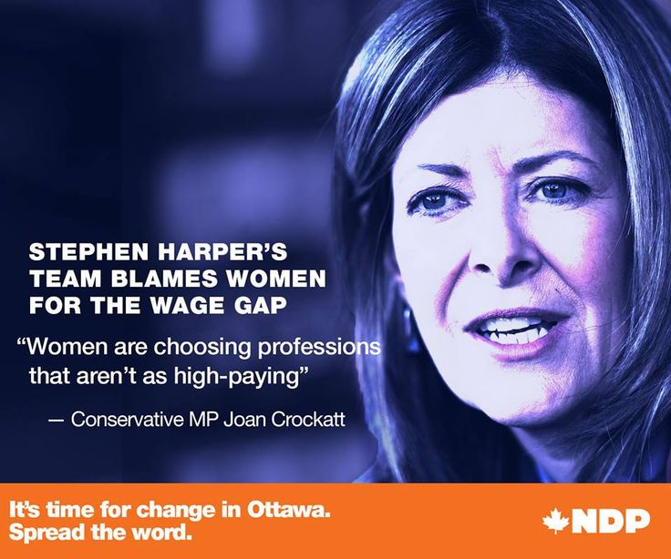 How far back would the Conservatives set women?  Stephen Harper's team blame women for the wage gap!  Let's elect a leader and party that stands up for EVERYONE in Canada.