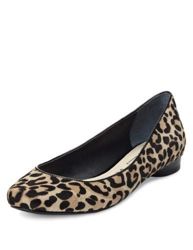 Autograph Leather Slip-On Animal Print Pumps - Marks & Spencer