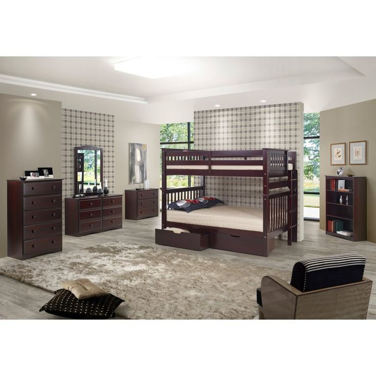 EcoFlex Santa Fe Mission Tall Bunk Bed Full over Full - Bed End Ladder - Treat your children to the EcoFlex Santa Fe Mission Tall Bunk Bed Full over Full - Bed End Ladder , a luxury-sized bunk bed set that provides plenty...