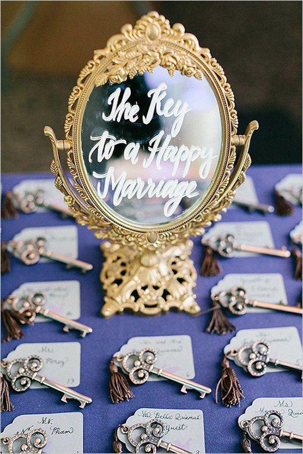 cartello matrimonio con specchio