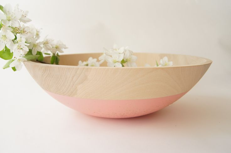 brika soft pink 15 inch bowl by wind & willow.