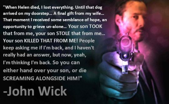 John Wick Quotes John Wick Movie Keanu Reeves Quotes