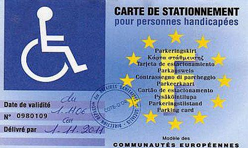 Carte européenne de stationnement - Handicap.fr
