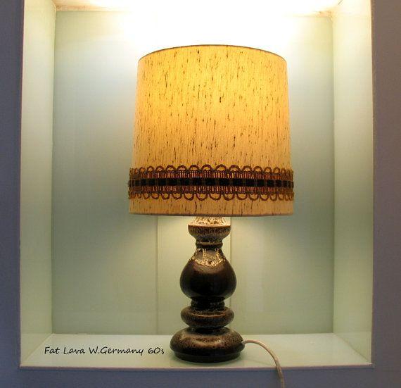 Fat Lava Ceramic Stem Floor Lamp Table Lamp 60s by Vintage4Moms