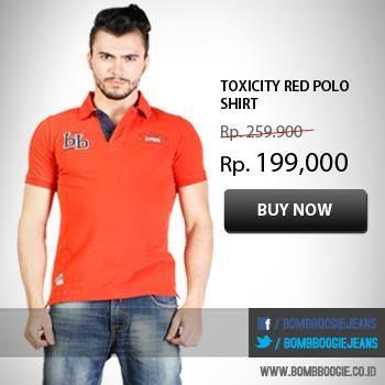 Cerahkan aura positifmu dengan Polo Shirt merah ini. Dapatkan hanya di >>> www.bombboogie.co.id