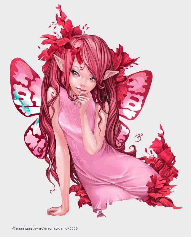 Elfrose: Pink Fairies, Pink Dreams, Fantasy Art, Fancy Things, Faeries Fairies, Fairies Art, Magic Fairies, Fairies Magic, Anna Ignatieva