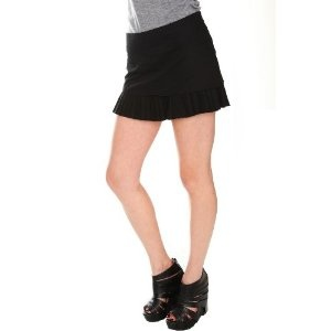 Black Pleat Hem Mini Skirt (Apparel)  http://documentaries.me.uk/other.php?p=B004KVHXNC  B004KVHXNC