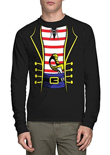 Long Sleeve Mens Pirate Costume Tshirt 3XL BLACK >>> Find out more about the great product at the image link.