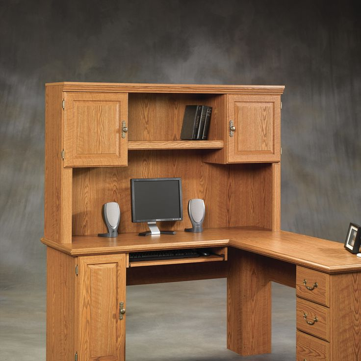 99+ Wooden Corner Desk with Hutch - Luxury Home Office Furniture Check more at http://www.sewcraftyjenn.com/wooden-corner-desk-with-hutch/
