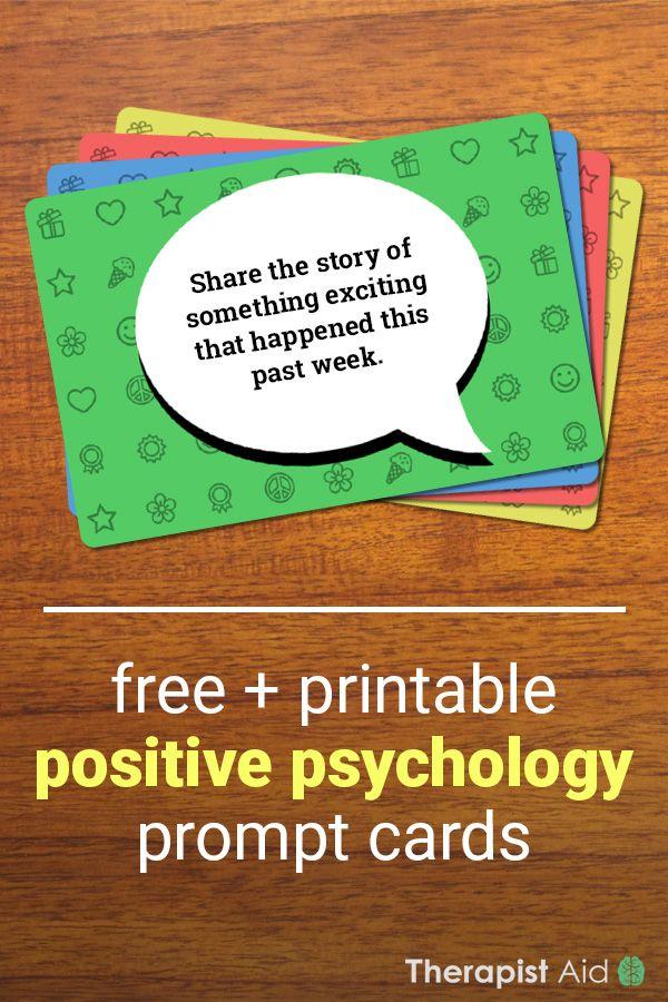 Positive Psychology Prompt Cards (Worksheet) Therapist